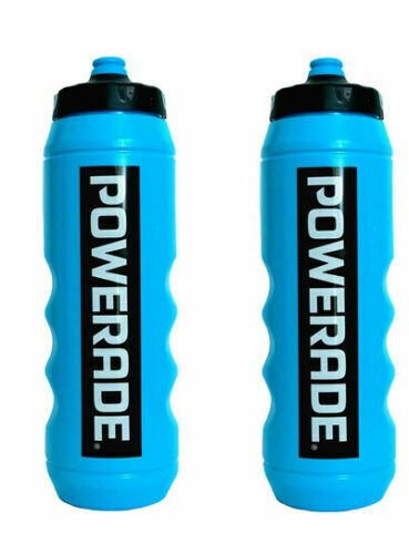 Set of 2 Powerade 32 oz Sports Clutch Water Bottle with Squeeze Cap