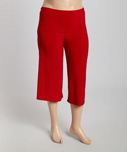 New Women's Canari Plus Size Red Gaucho (Capri) Pants Size 2X 3X ...