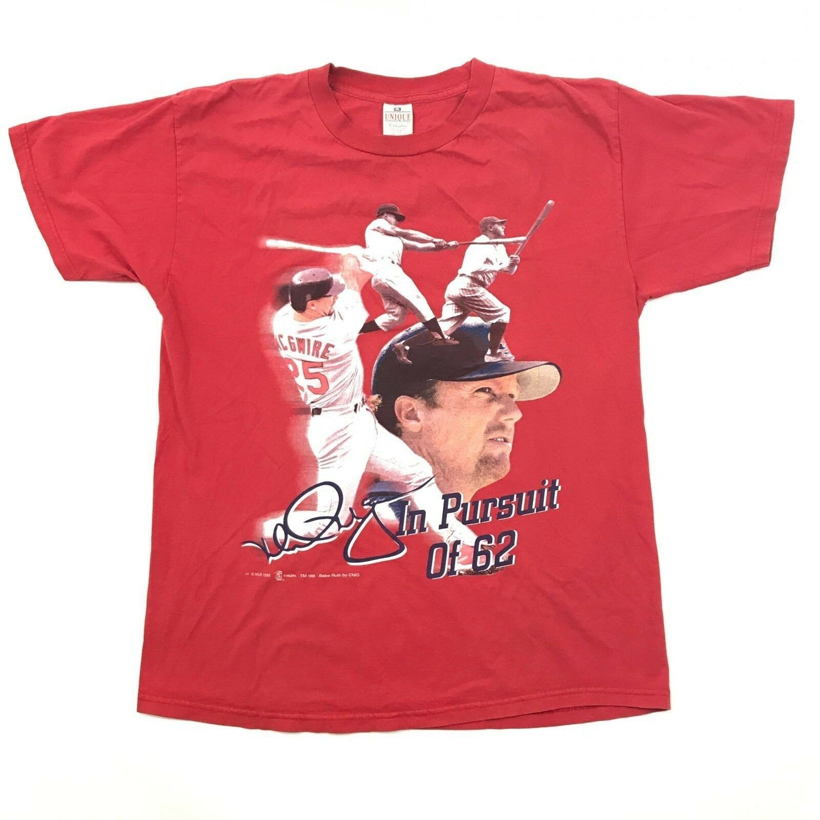 Vintage Babe Ruth T-Shirt T-Shirt T-Shirt Mark Mcgwire T-Shirt Größe L Kurzärmlig Unique 1998     | Gutes Design  d00a8a