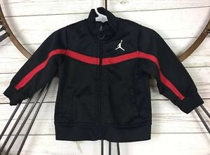 2685555720ce Air Jordan Nike Baby Boy Zip Up Jacket Black Red Bred 12 Months ...