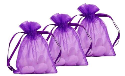 Sacchetti Organza Sheer 100pcs 7 x 9cm TRASPARENTE favorisce i Sacchetti regalo Candy Candy