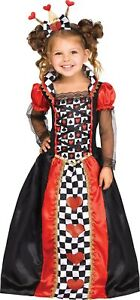 Queen of Hearts Child Girls Toddler Costume Size 3T-4T NEW Alice in Wonderland