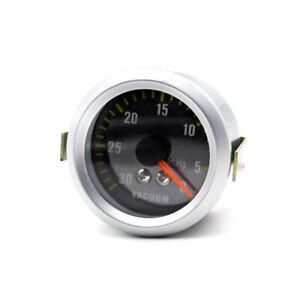"2"" inch 52mm Car Motor Universal Black Face LED 0-30 Vacuum Gauge Meter"