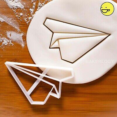 Origami Plane cookie cutter | paper airplane aeroplane biscuit cupcake  topper | eBay