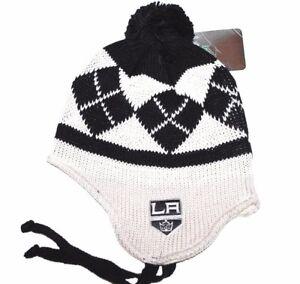 9977217c665 Los Angeles Kings RBK Center Ice Hockey NHL Pom Knit Hat Beanie ...