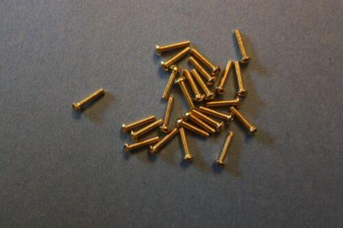 2-56 X 1/2 BRASS MACHINE SCREW ROUND HEAD SLOTTED Qty 24