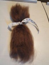 brown  mohair   -- to root your babies hair
