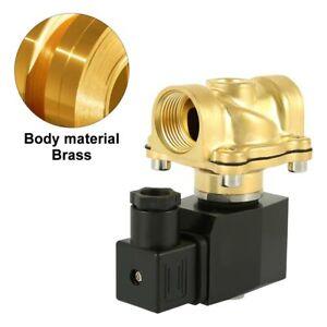 Magnetventil-Messing-1-2-034-230V-AC-0-10-bar-Viton-NC-stromlos-geschlossen-150-C