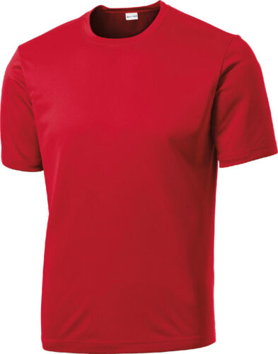LIGHTWEIGHT MEN/'S WICKING BREATHABLE CREW NECK ATHLETIC T-SHIRT TALL LT-4XLT