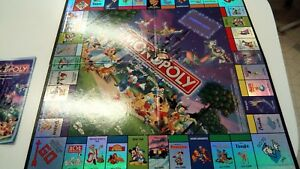 Monopoly disney edition property deed cards game cards complete.