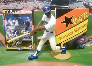 1992  RUBEN SIERRA - Starting Lineup - SLU - Figure - Card & Poster - TEXAS