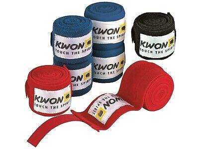 Ambizioso Bende Elastiche Di Kwon. Boxe, Kick Box, Muay Thai, Mma, Bjj Lungo 4,5m-