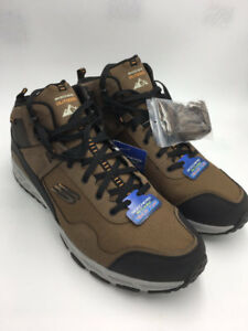 Details about NEW Skechers Mens 14 Escape Plan Sly Goose Brown Boots Hiking Trail Shoes 51593