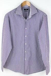 HUGO-BOSS-Men-Regular-Fit-Striped-Casual-Shirt-Size-45-17-3-4-AGZ753