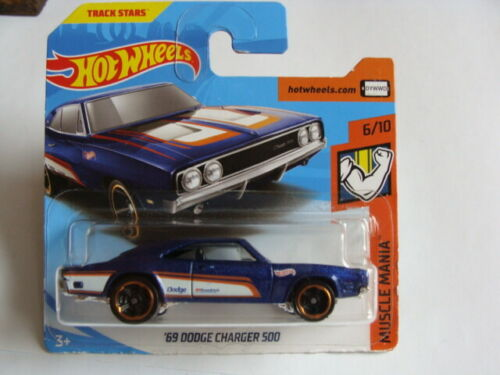 Hot Wheels 2018 MUSCLE MANIA ´69 Dodge Charger 500 1:64 6//10