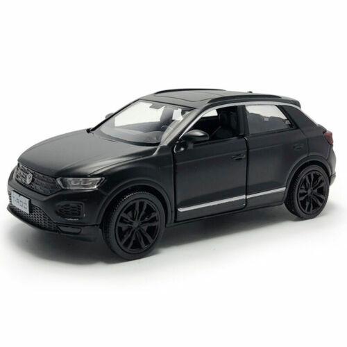 T-ROC SUV 1:36 Die Cast Modellauto Auto Spielzeug Model Pull Back Matt Schwarz