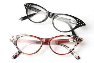 0966c746204 Image is loading Vintage-Womens-Lady-Cat-Eye-Sexy-Reading-Glasses-