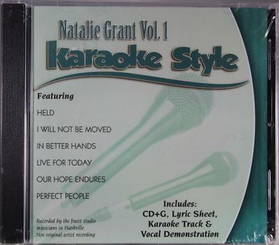 Karaoke Entertainment Musical Instruments & Gear Natalie Grant Volume 1 Christian Karaoke Style New Cd+g Daywind 6 Songs