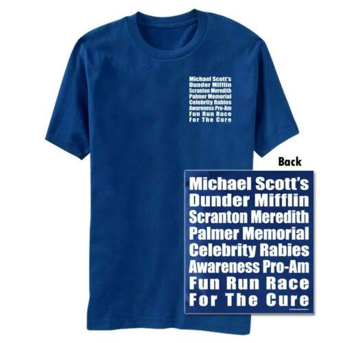 The Office Race Royal Graphic Tee Shirt Blue
