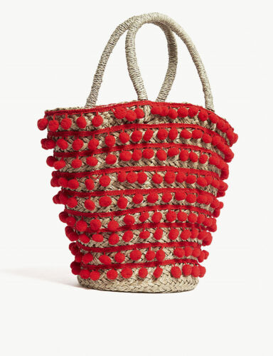 Mystique Mystique Pom Bag Beach Bag Medium Pom Medium Beach v6nfdnaq