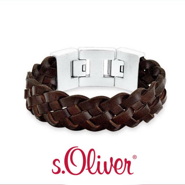 100% Qualitätsgarantie heißer verkauf rabatt uk billig verkaufen s.Oliver Herren Armband Edelstahl Leder 523882 /j017-222