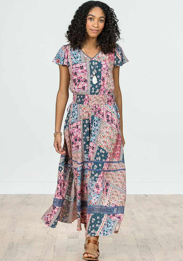 NEW Matilda Jane Women's Wildlife Maxi Dress NWT Size XL Extra Large Camp MJC
