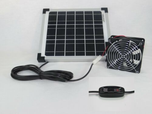 10 Watt Solarlüfter Solar Belüftungssystem Ventilator Gewächshaus Gartenhaus NEU