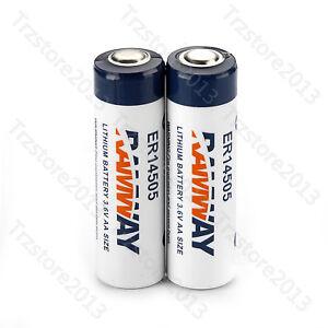 UAS-2pcs-AA-3-6V-ER14505-LS14500-Li-SOCl2-2400mAh-Disposable-Li-ion-Battery