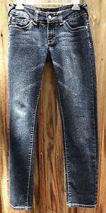 53db86138d7425 Details about Chinese Laundry Jr.? Women's Size 26 Mild Distress Dk Wash  Blue Denim Jeans