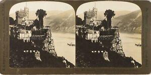 Germania Château Da Rheistein, Foto Stereo Vintage Analogica PL62L12n2
