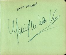 KEN MURRAY / MONIQUE VAN VOOREN Autographs - ca.1930's