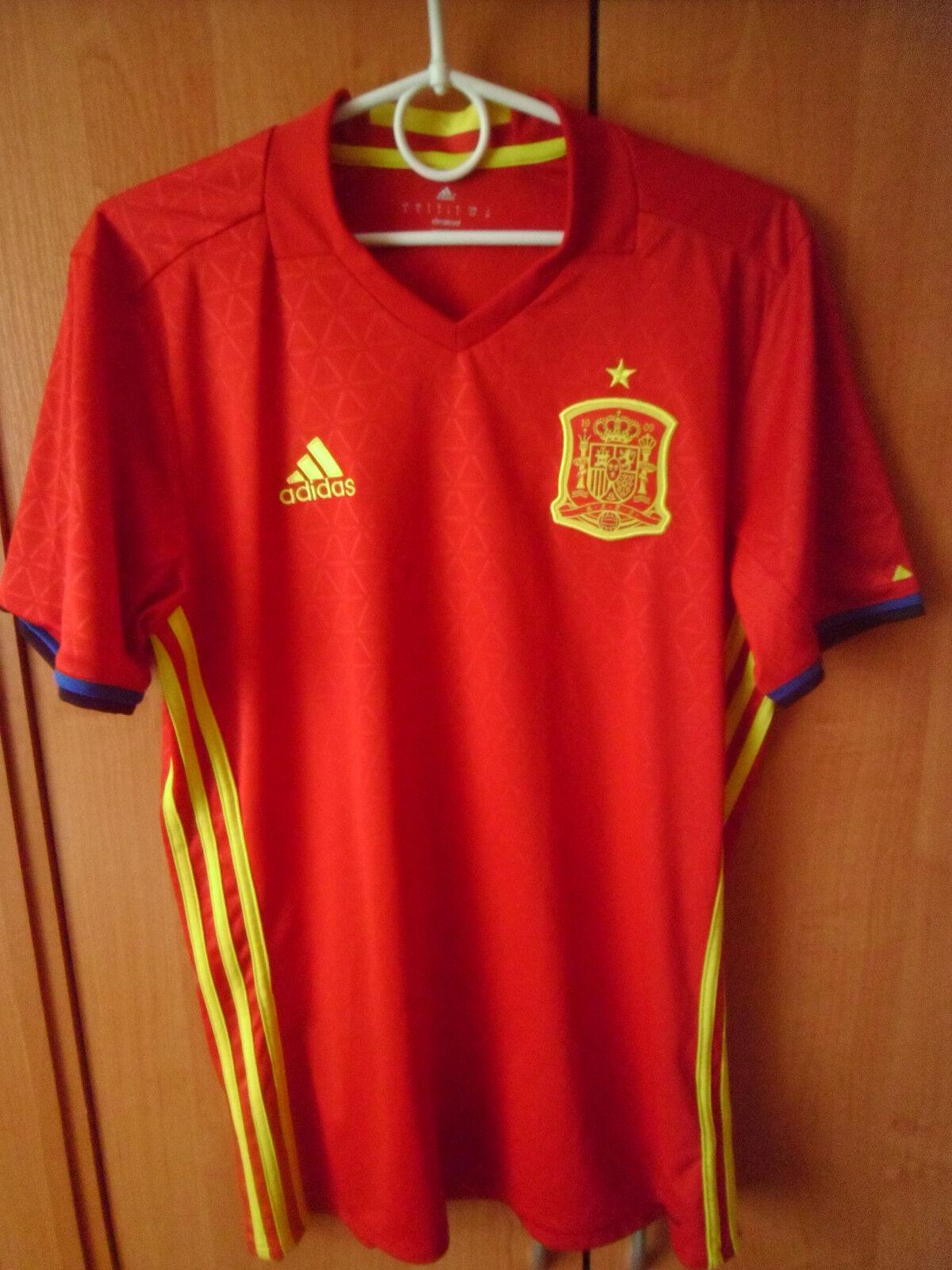 EXCELLENT    2016 17 Spain Home Shirt Jersey Trikot S