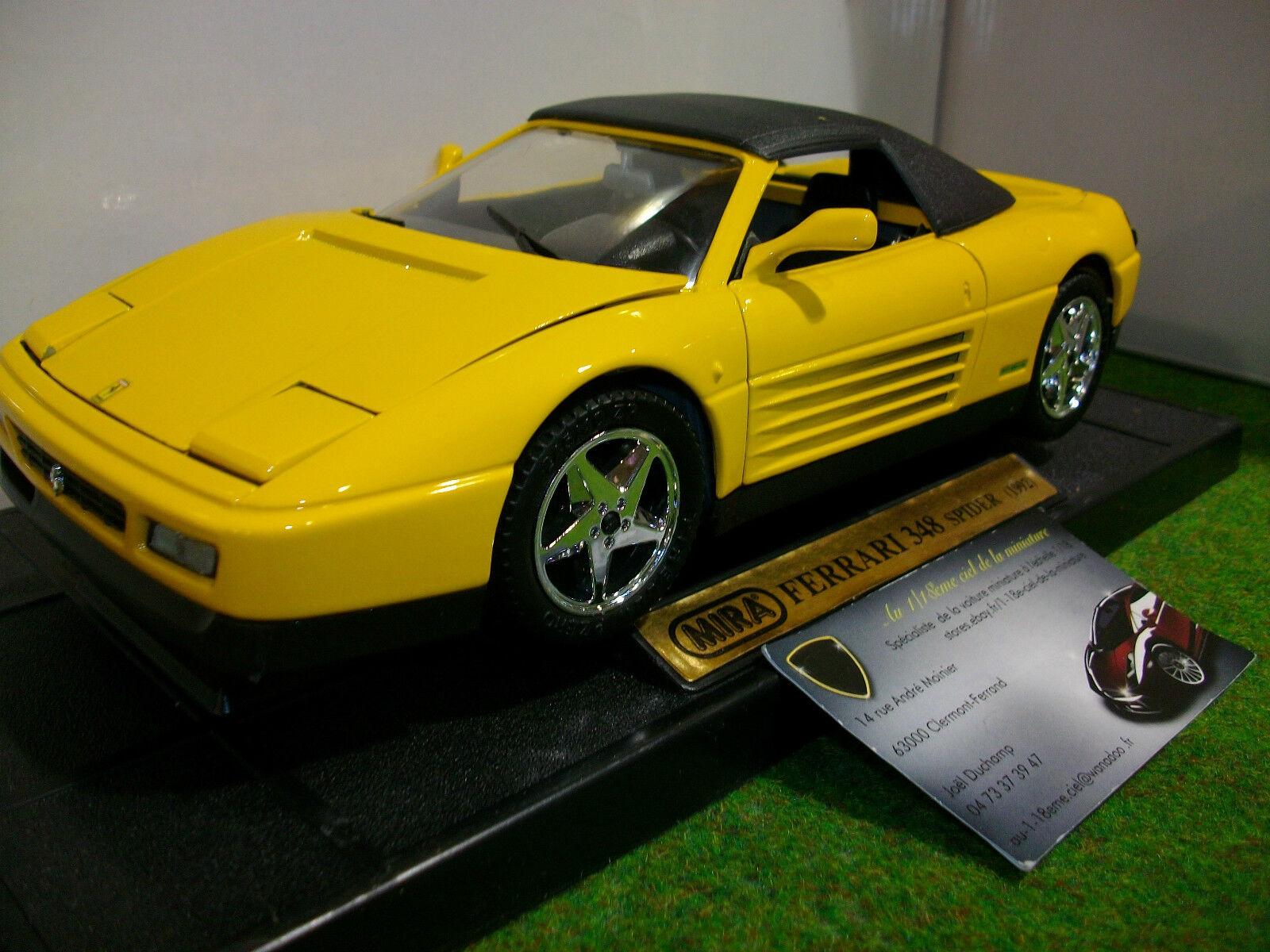 directo de fábrica FERRARI  348 348 348 SPIDER cabriolet soft top 1992 jne 1 18 MIRA 6918 voiture miniature  aquí tiene la última
