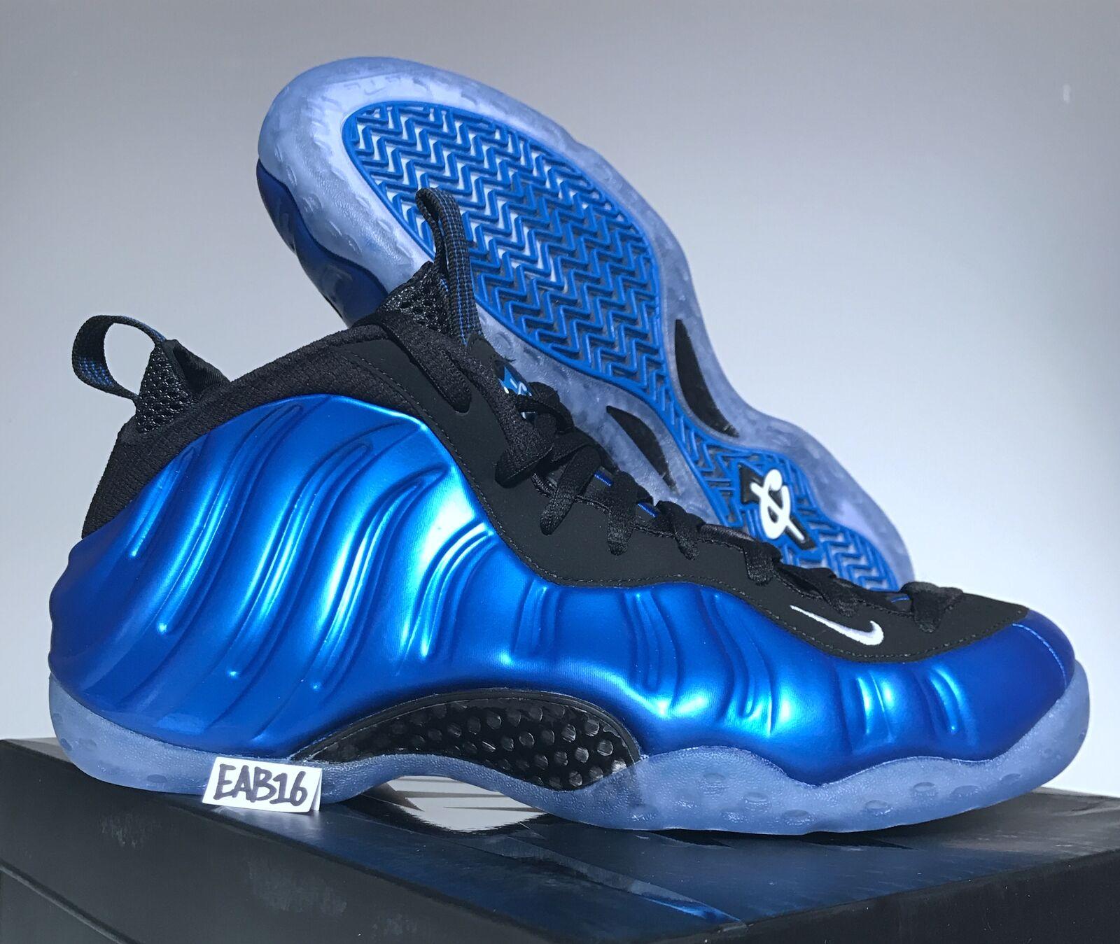 Nike Air Foamposite One XX Dark Neon Royal OG Size Black Blue Foams 895320-500