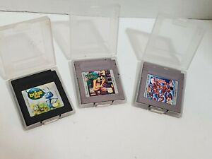 Nintendo-Gameboy-Games-Lot-of-3-All-Star-Challenge-Taz-Mania-Bugs-Life-W-Cases