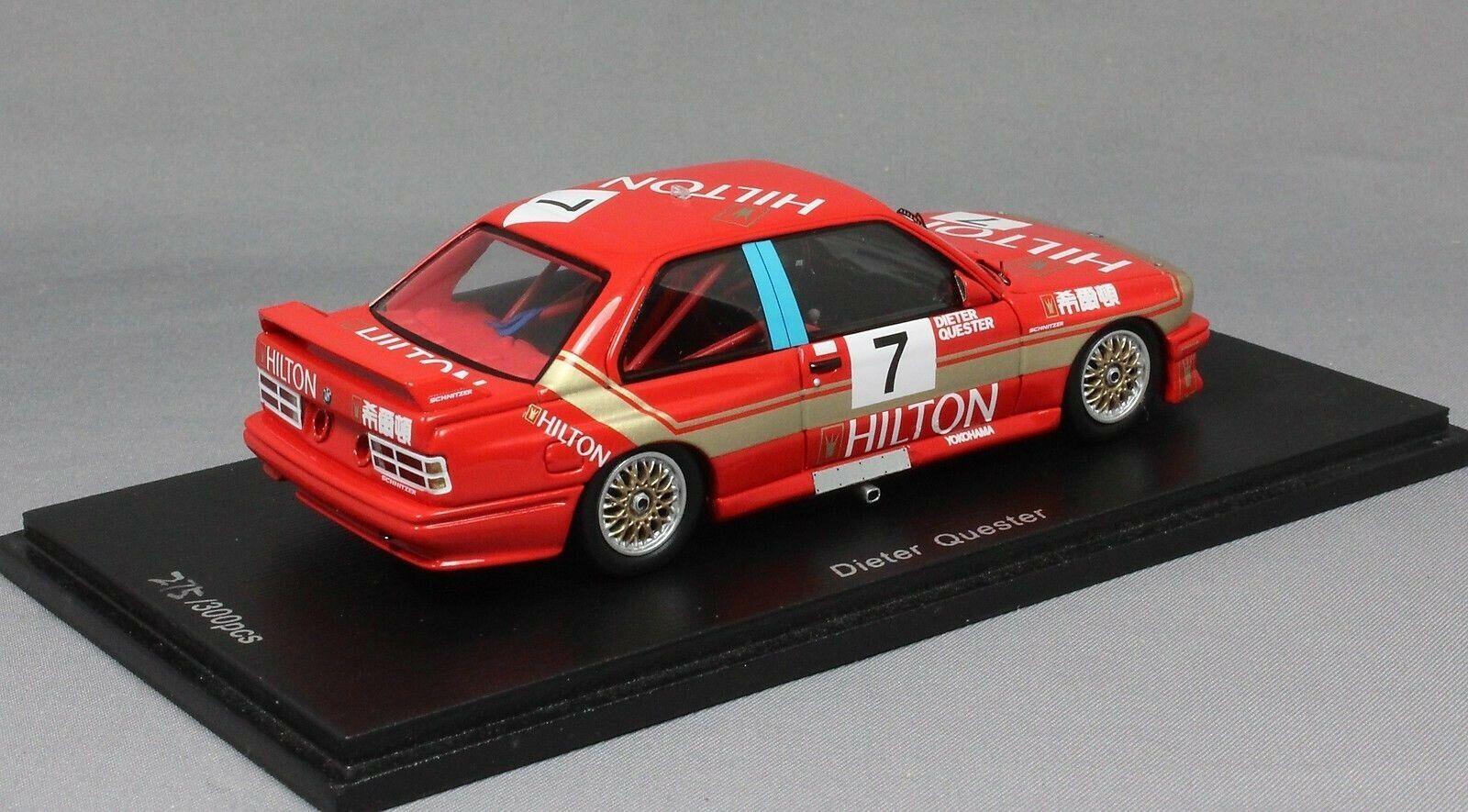 Spark BMW M3 M3 M3 E30 Macau Guia race 1987 Dieter Quester SA033 1 43 New LTD ED 300 51c55d