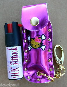 Hello Kitty 50oz Pepper Spray With Nail Safe Keychain Pink