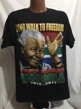 Nelson Mandela Memorial Big Graphic T-shirt Sz L Hip Hop Rap Tee Pride EUC