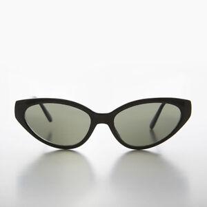 Détails sur Extrême Chat Noir Eye 90s Vintage Lunettes de Soleil avec Vert Lentille Alexa