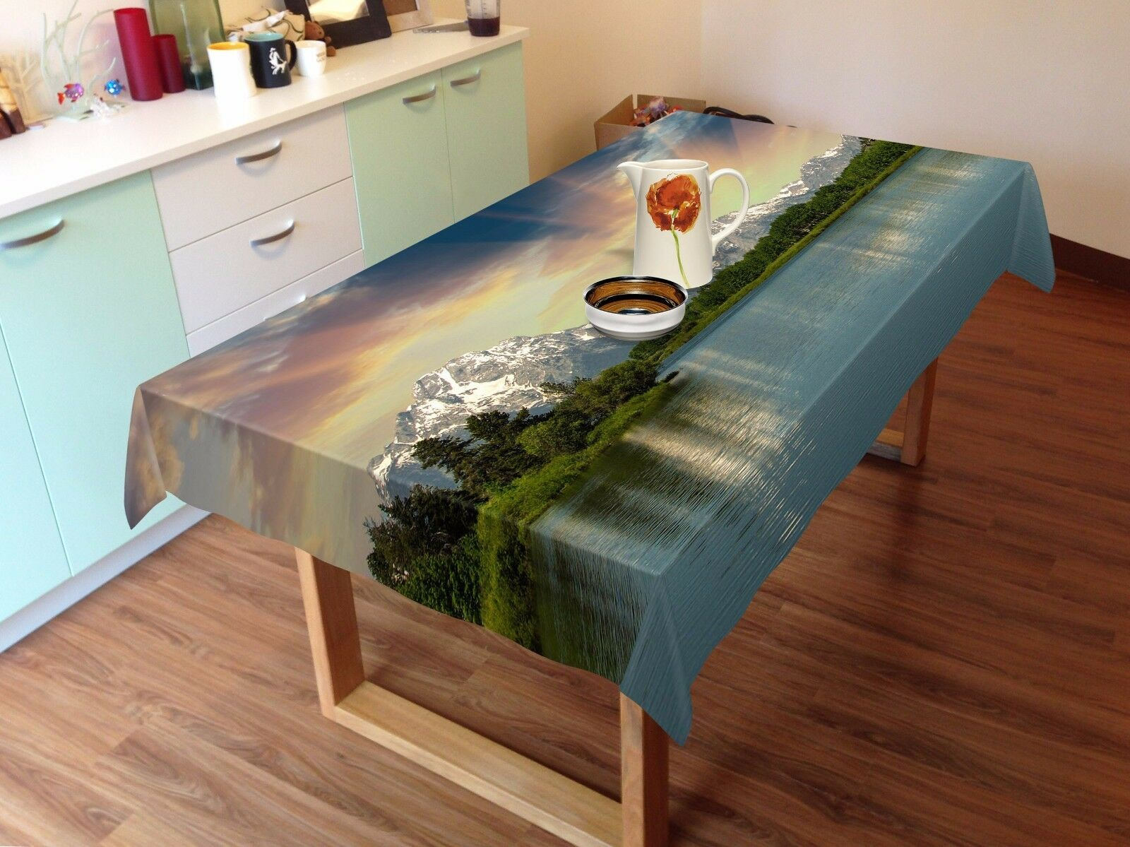 3D Lake Sun 291 Tablecloth Table Cover Cloth Birthday Party Party Party Event AJ WALLPAPER e89b9c