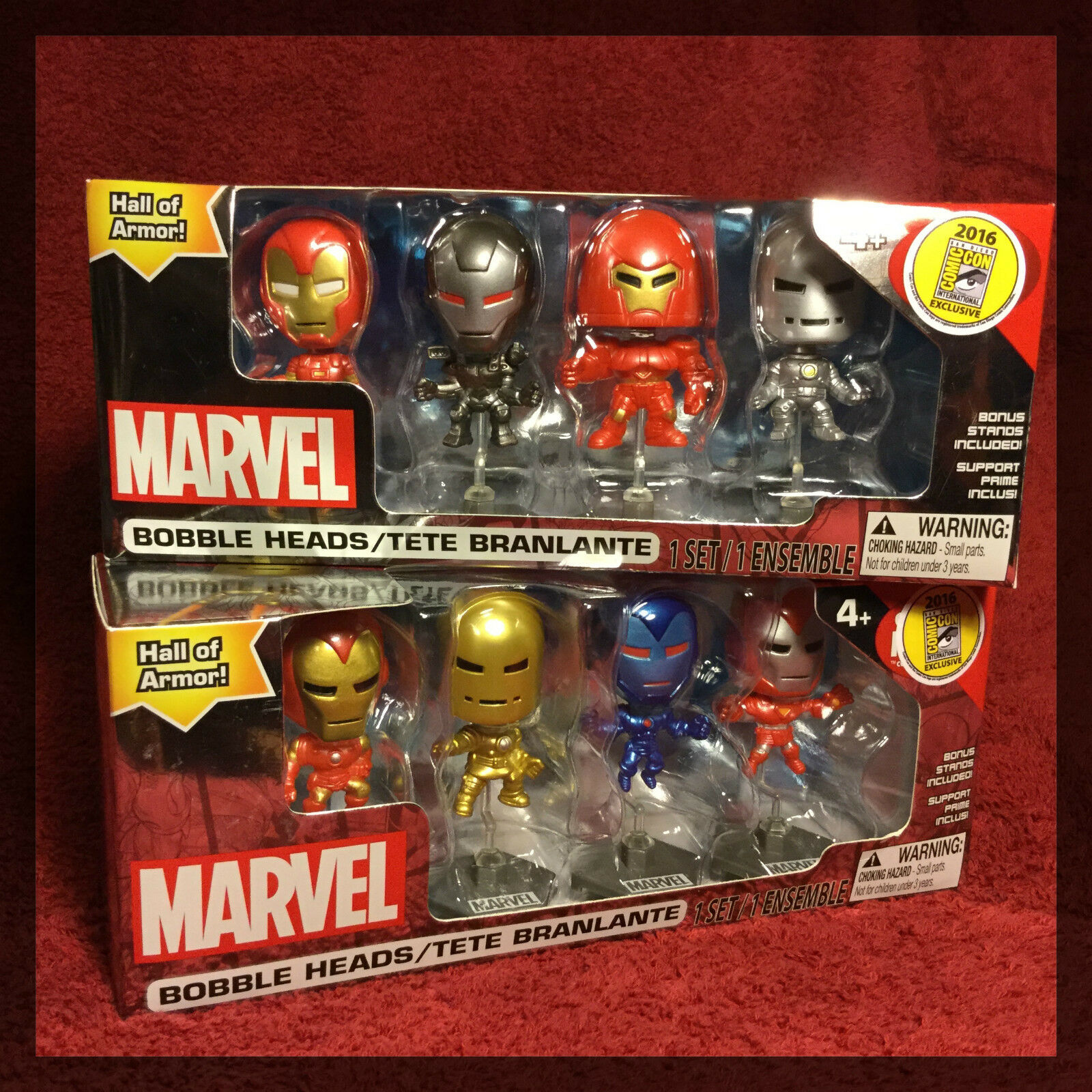SDCC 2016 Marvel Iron uomo Htutti of Armor 8 Piece EXCLUSIVE Mini cifra nuovo Rare