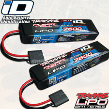 Traxxas 2869X 2S 7.4V 7600mAh 25C LiPo Battery w/ iD Connector [ 2 Pack Combo ]