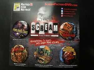 SDCC-2017-EXCLUSIVE-Scream-Factory-Button-Set-of-5-Living-Dead-Texas-Chainsaw
