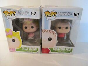Pop-Peanuts-50-Sally-Marron-50-Linus-Van-de-Piel-Funko-Nuevo-en-Caja-Show-Ropa