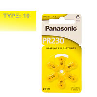 Panasonic Hearing Aid Batteries Size 10, Pack 60 Pcs