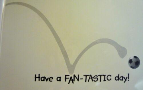 Scottish Football Fan Man Boys Birthday Card /& Rosette Rangers Hearts Celtic