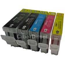 5 CHIPPED printer ink cartridges for CANON PIXMA IP4300