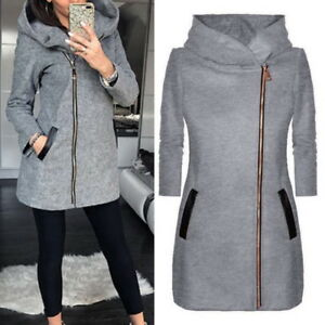 Womens-Hoodies-Warm-Coat-Hooded-Jacket-Winter-Zipper-Parka-Outwear-Overcoat