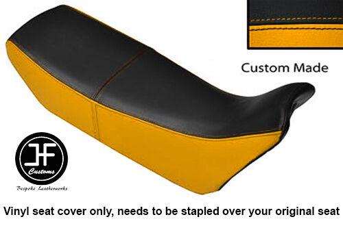 RED /& BLACK VINYL CUSTOM FITS HONDA NX 650 DOMINATOR 92-01 DUAL SEAT COVER ONLY