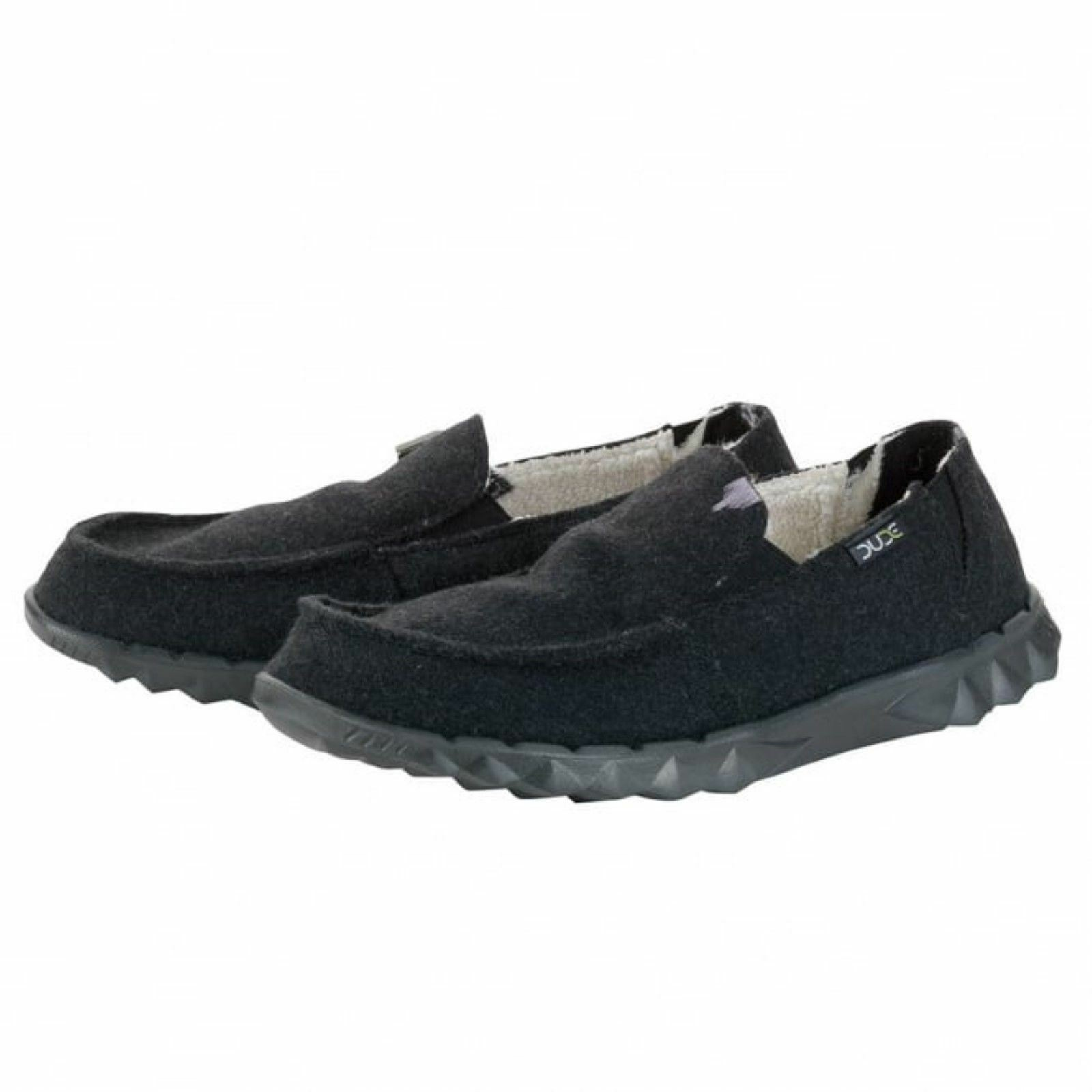 Hey Dude Farty Slip On Hombre Zapatos Farty Dude Chalet Negro Felt  Leather Insole 71a447